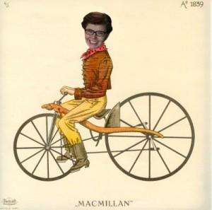 Colonial Annie On A Bike
