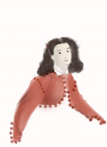 A Bolero Sketch from History On Two Needles (based on a Tissot Painting)