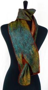 A beautiful felted scarf by Jill Lynn