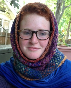 Our newest design, Lanark Plaid Cowl, worked in Bulky Loch Ness, Thistle & A Wee Dram