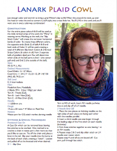 Lanark Plaid Cowl To download click on image of pattern.