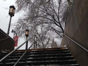 Winter Subway Climb