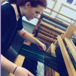 Andy in Weaving Class at Earlham